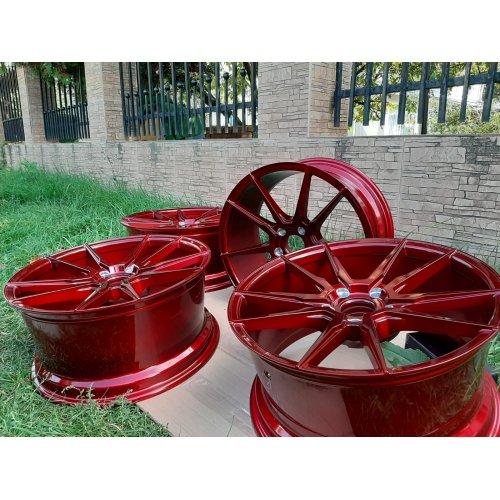 Set 4 Jante JR-wheels JR21 18x8.5 et35 5x112 platinum Red