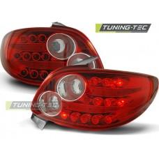 Triple PEUGEOT 206 10.98- RED WHITE LED