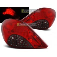 Triple PEUGEOT 207 3D/5D 05.06-06.09 RED SMOKE LED