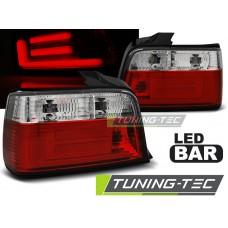 Triple BMW E36 12.90-08.99 SEDAN RED WHITE BAR LED