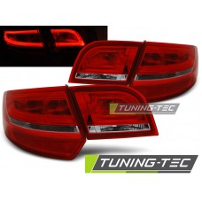 Triple AUDI A3 8P 04-08 SPORTBACK RED WHITE LED