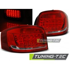 Triple AUDI A3 08-12 RED WHITE LED