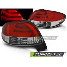 Triple PEUGEOT 206 10.98- RED WHITE LED BAR