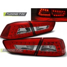 Triple MITSUBISHI LANCER 8 SEDAN 08-11 RED WHITE LED