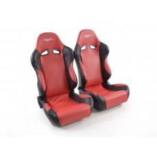 Scaune sport SCE-Sportive 1 piele artificiala rosie /negru