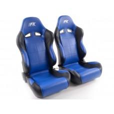 Scaune sport Comfort piele artificiala albaastru/negru