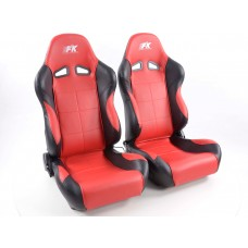 Scaune sport Comfort piele artificiala rosie /negru