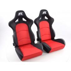 Scaune sport Control textil rosu /negru