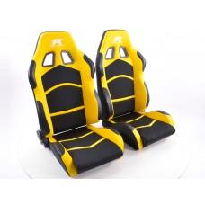 Scaune sport Cyberstar textil negru/galben
