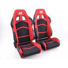 Scaune sport Cyberstar textil negru/rosu /