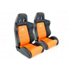 Scaune sport Dallas piele artificiala portocaliu cusatura neagra portocaliu