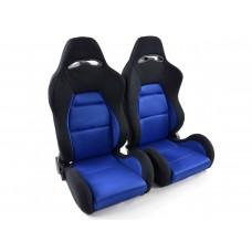 Scaune sport Edition 3 textil albastru/negru