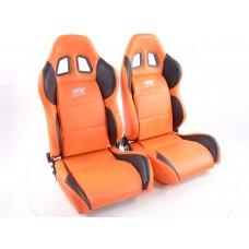 Scaune sport Houston piele artificiala portocaliucusatura neagra portocaliu