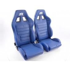Scaune sport Race 4 Real piele albastru