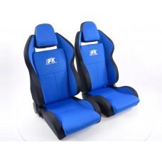 Scaune sport Race 5 textil albastru/negru