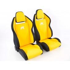 Scaune sport Race 5 textil galben/negru