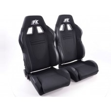 Scaune sport Racecar textil negru
