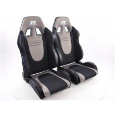 Scaune sport Racecar textil negru/gri