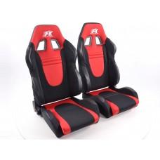 Scaune sport Racecar textil negru/rosu /