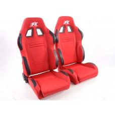 Scaune sport Racecar textil rosu /
