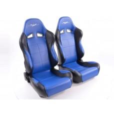 Scaune sport SCE-Sportive 1 piele artificiala albaastru/negru