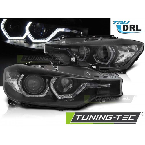 Faruri BMW F30/F31 10.11 - 05.15 ANGEL EYES LED BLACK DRL