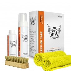 KIT RRC CAR WASH BOX LEATHER CLEANER STRONG ( Kit curatare si hidratere piele versiune strong )